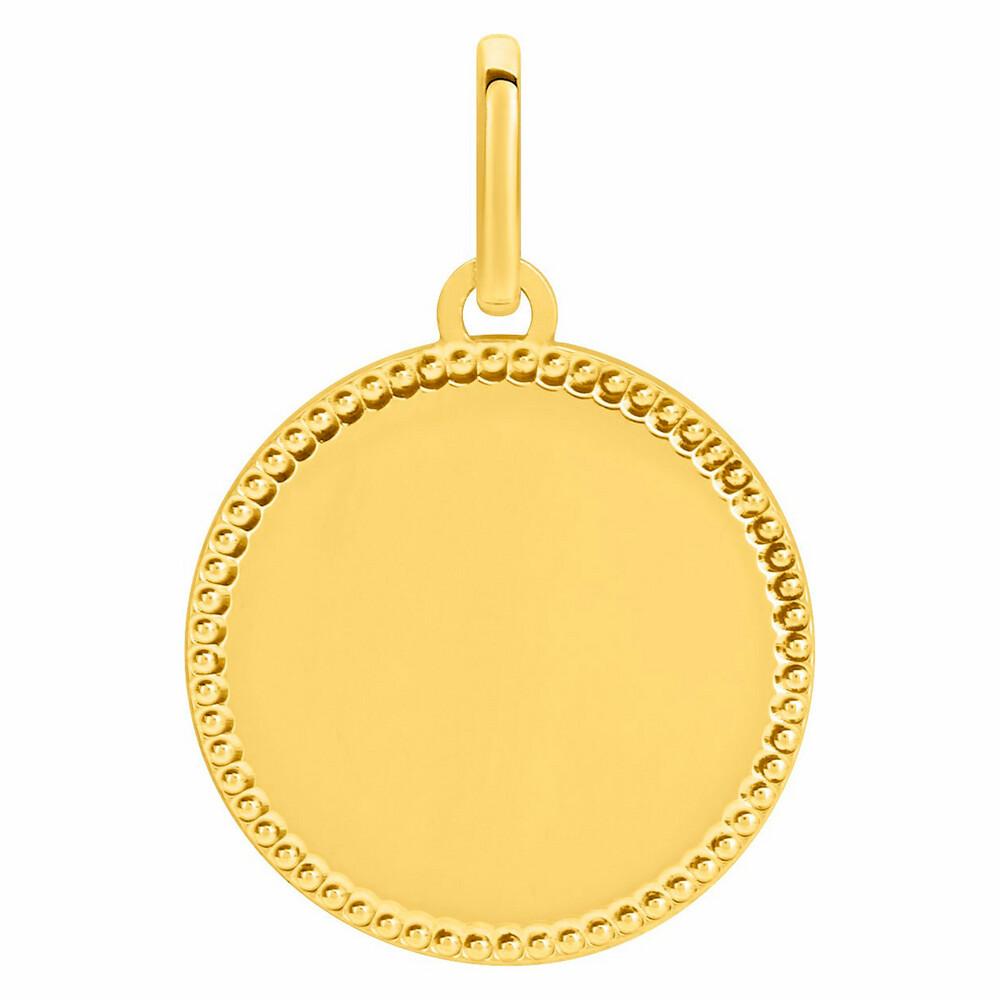 Photo de Médaille contour boules - Or jaune 18ct