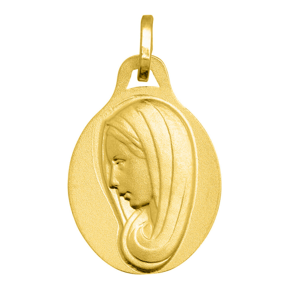 Photo de Médaille Vierge profil - Or jaune 18ct