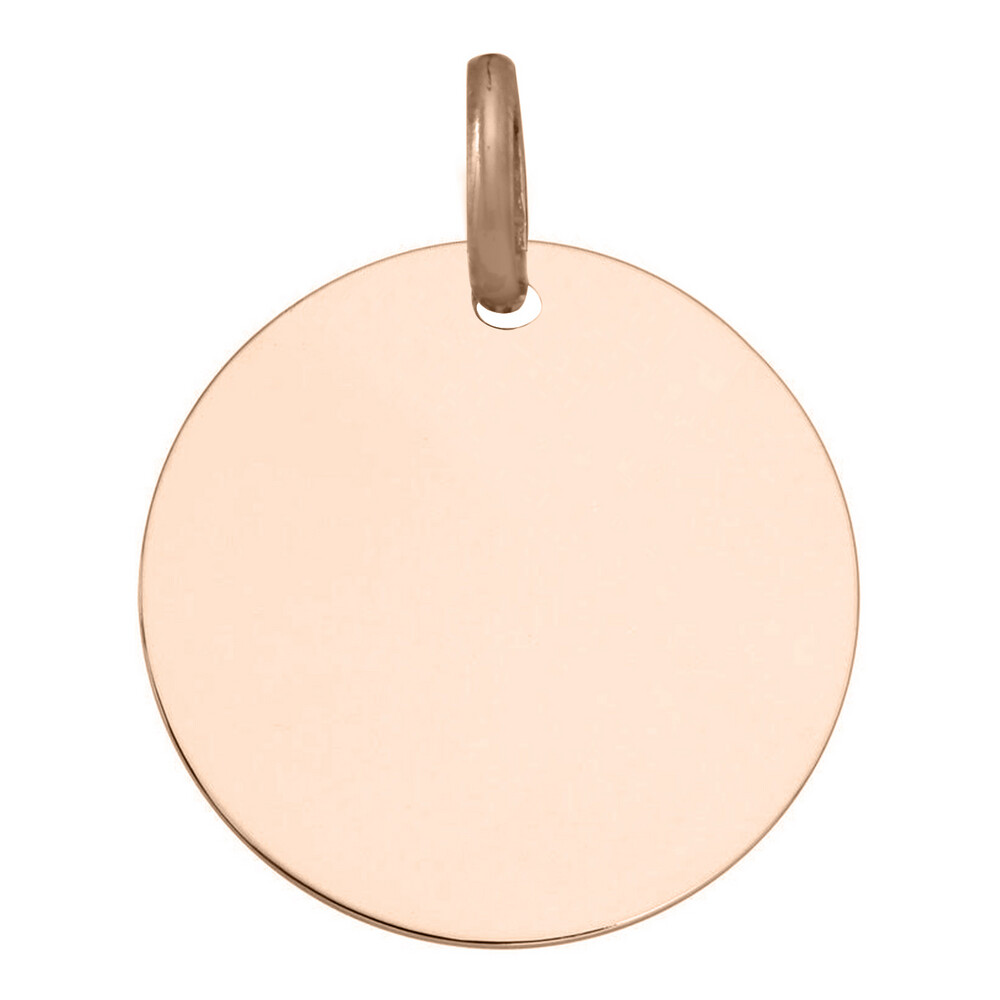 Photo de Pendentif plaque ronde - Or rose 18ct