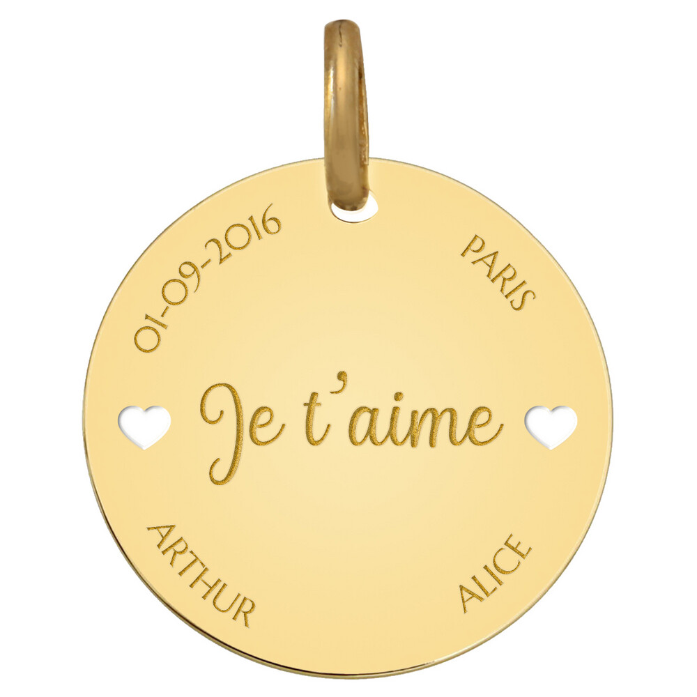 Photo de Médaille de l'Amour - Or jaune 9ct