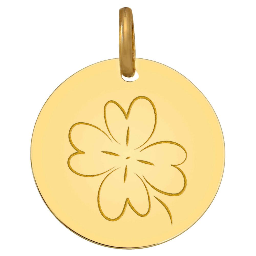 Photo de Médaille Trèfle - Or jaune 18ct