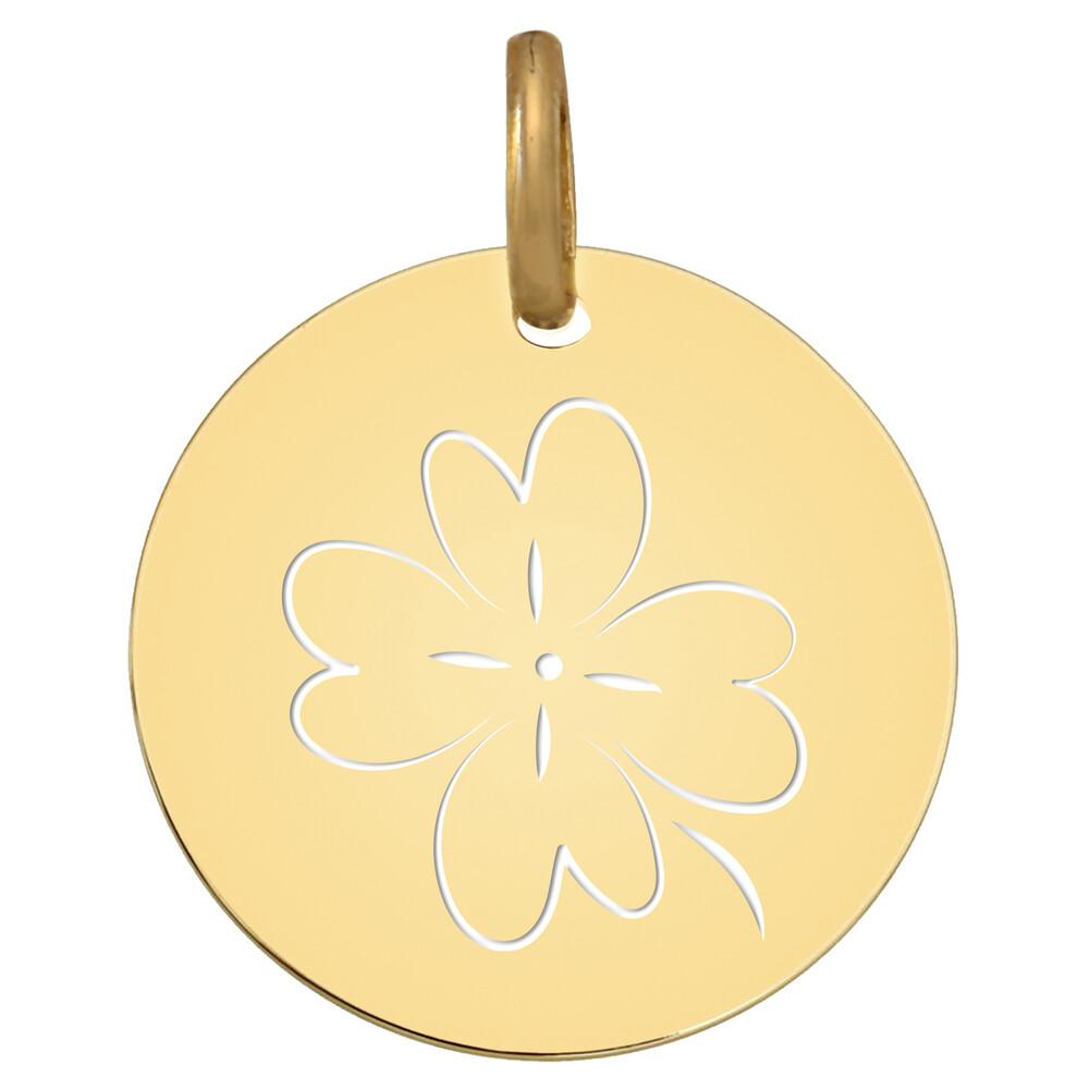 Photo de Médaille Trèfle ajouré - Or jaune 18ct
