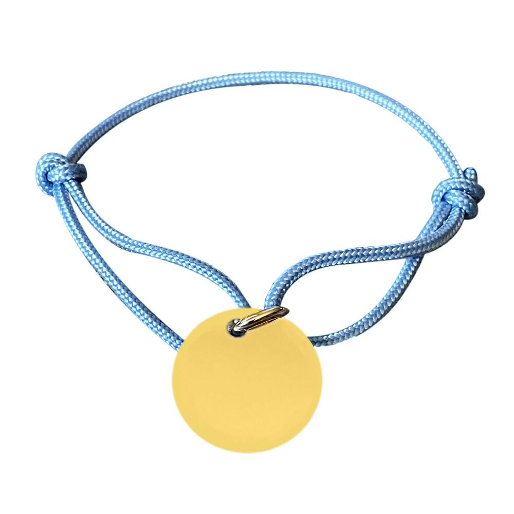 Photo de Bracelet médaille ronde - plaqué or