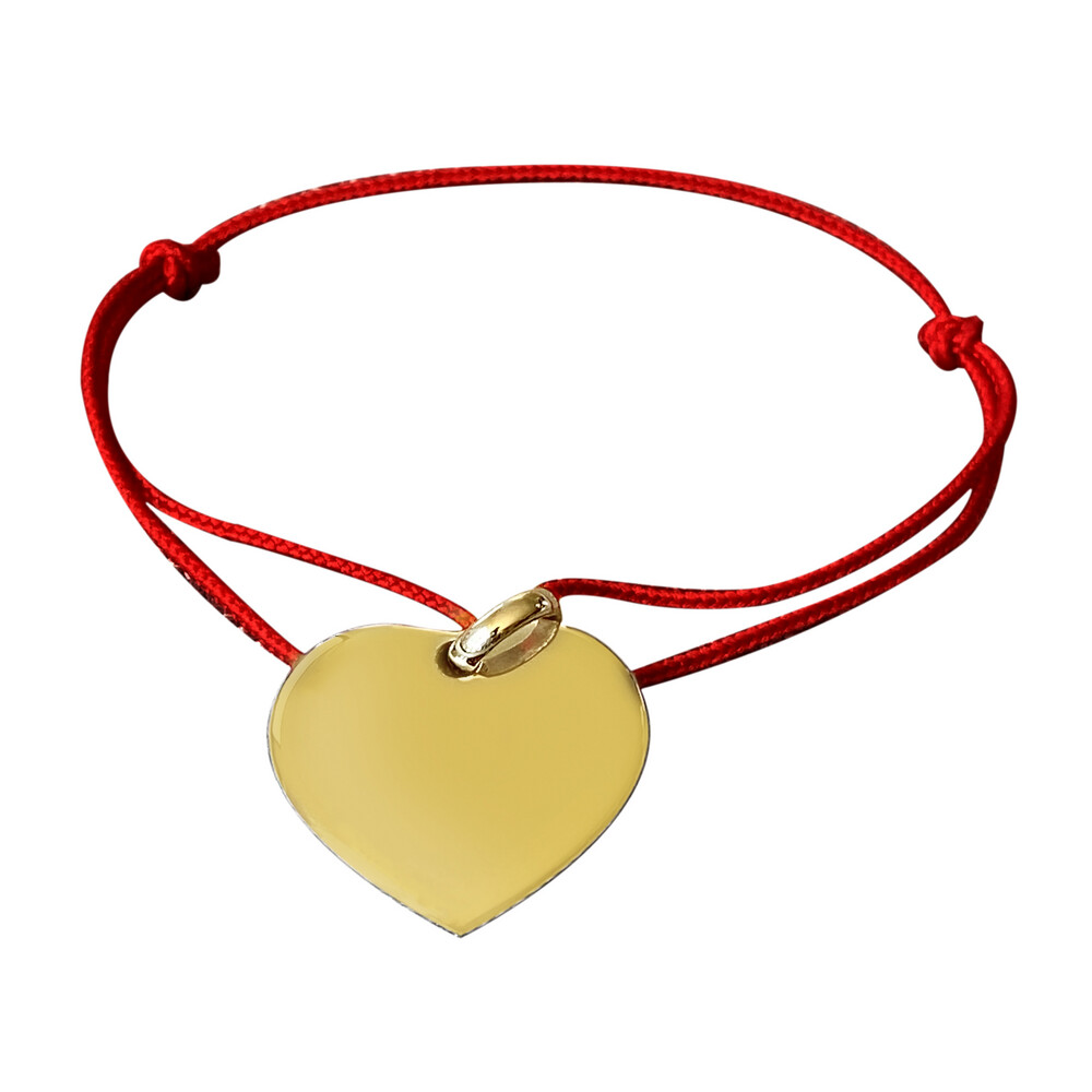 Photo de Bracelet médaille coeur - plaqué or