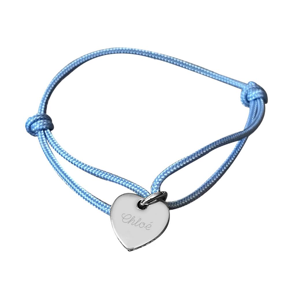 Photo de Bracelet médaille petit coeur - Argent massif