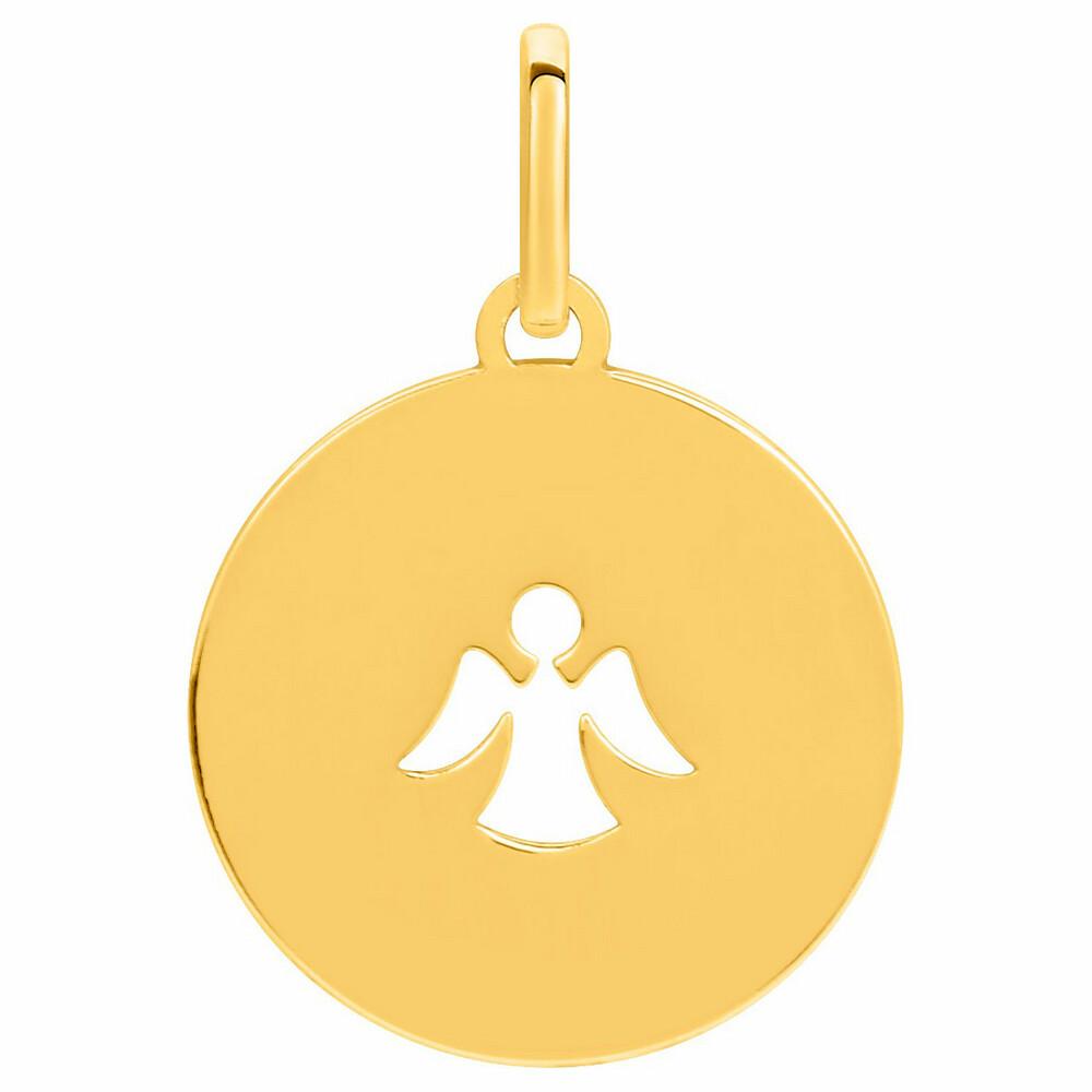 Photo de Médaille Ange ajouré - Or jaune 18ct