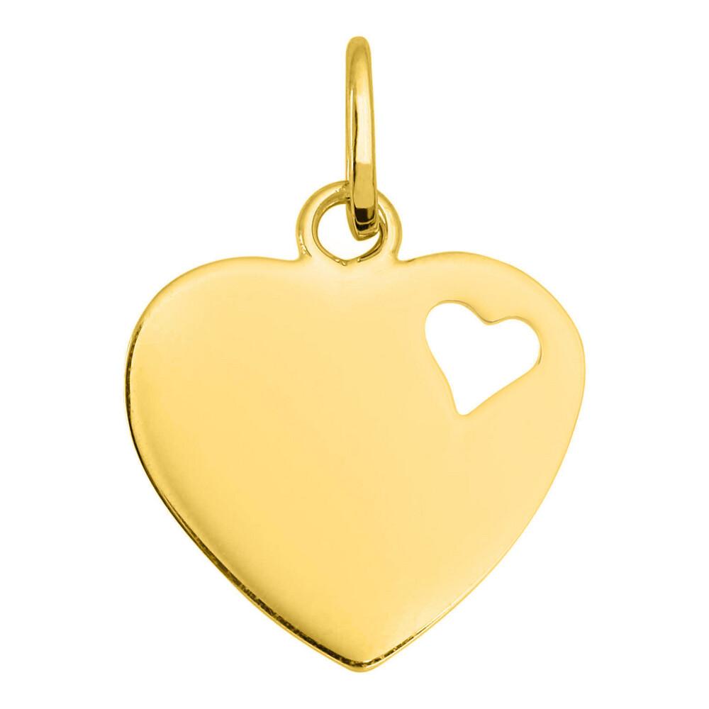 Photo de Pendentif coeur ajouré - Or jaune 9ct