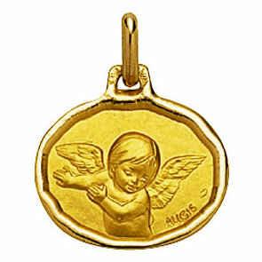 Photo de Médaille Ange Raphaël ovale - Or jaune 18ct