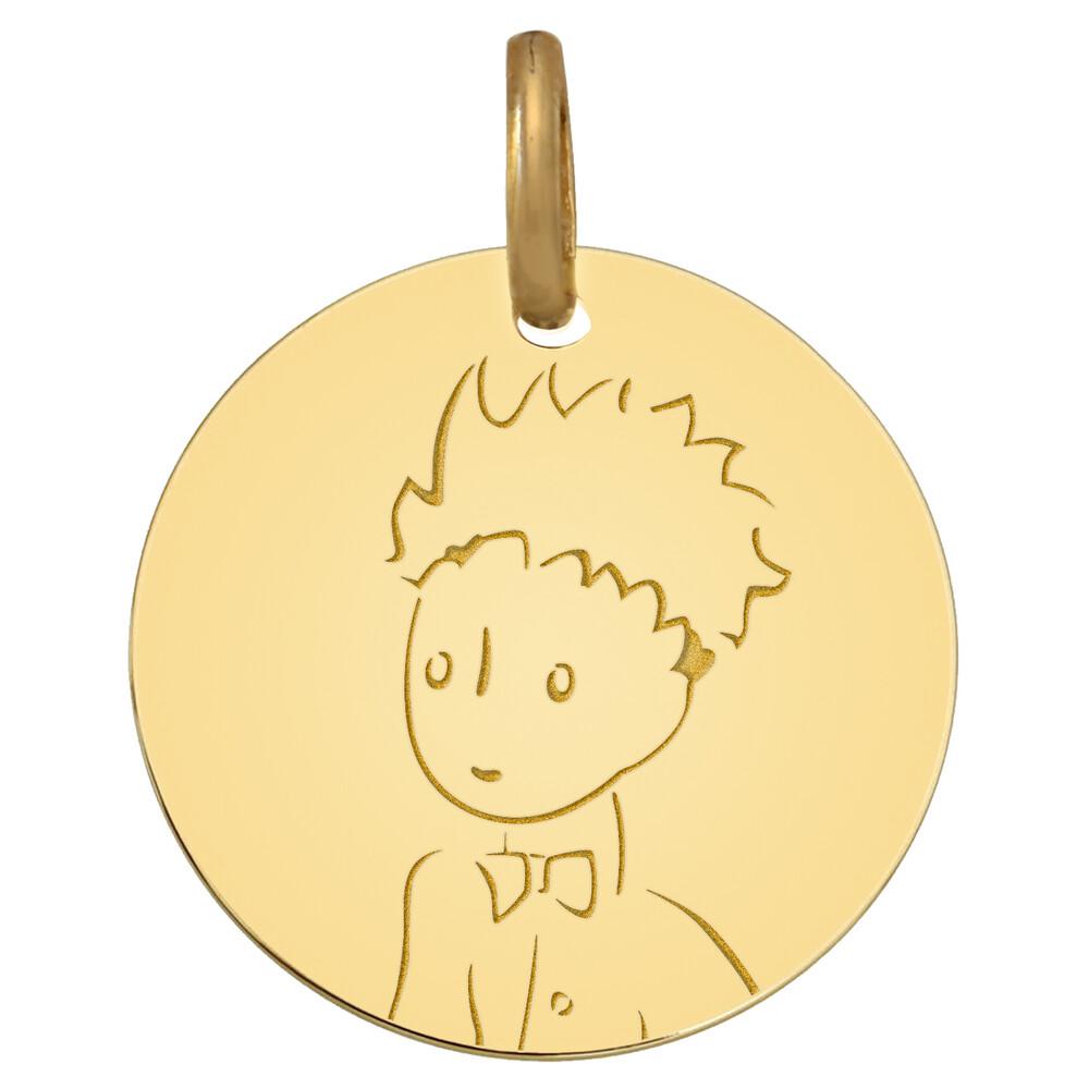 Photo de Médaille Petit Prince portrait - Or jaune 9ct