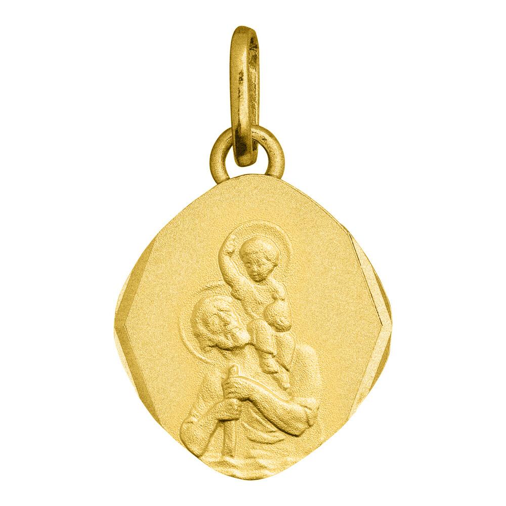 Photo de Médaille Saint Christophe - Or jaune 18ct