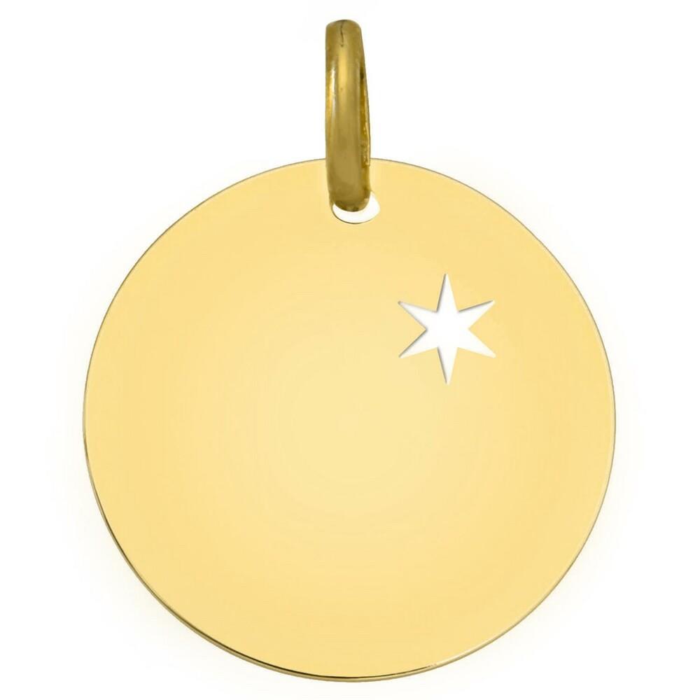 Photo de Médaille étoile ajourée - Or jaune 18ct
