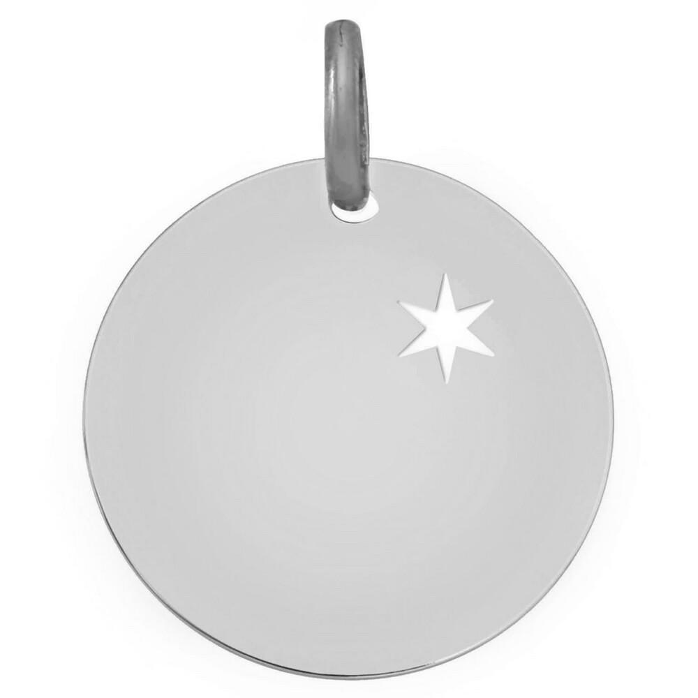 Photo de Médaille étoile ajourée - Argent massif