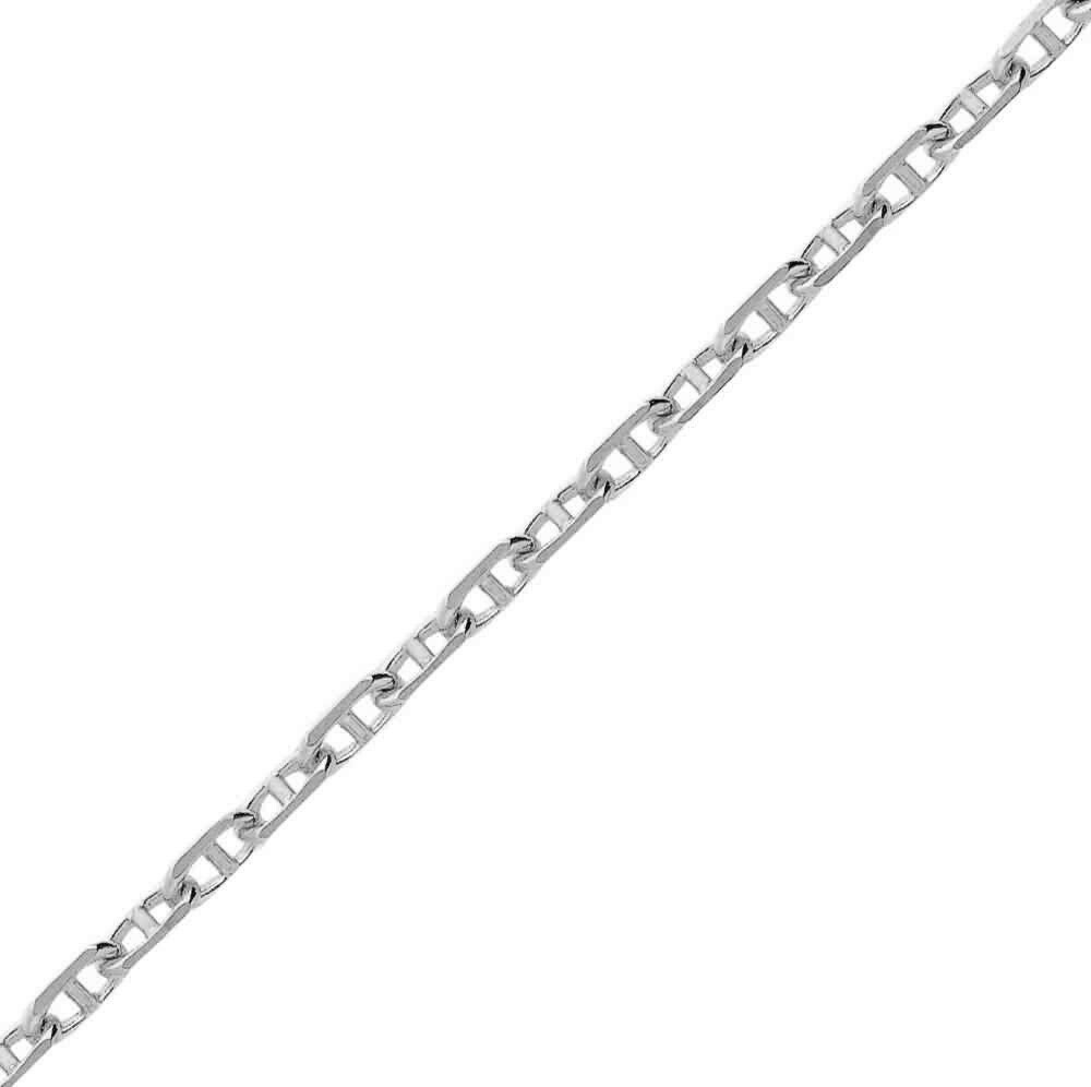Photo de Chaine marine forçat - Or blanc 9ct